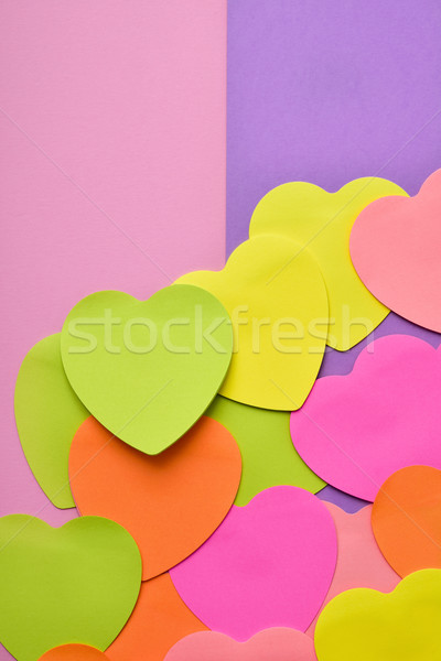 Sticky notes différent couleurs rose Photo stock © nito