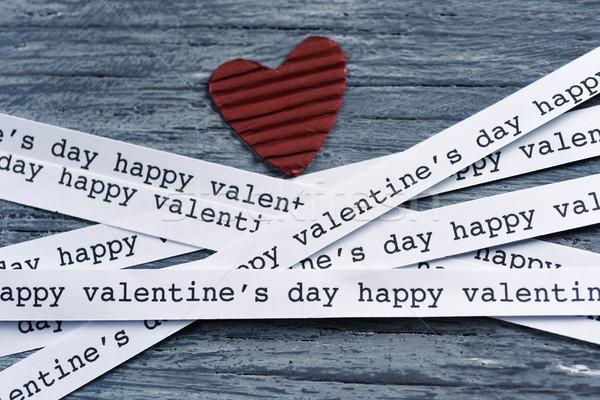 heart and text happy valentines day Stock photo © nito