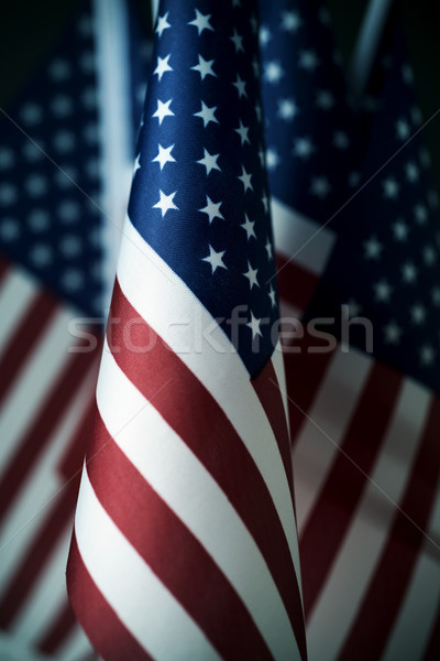 american flags in line Stock photo © nito