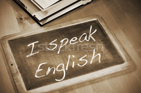 I speak english Stock photo © nito