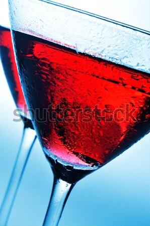 Koktélok koktél szemüveg italok különböző színek Stock fotó © nito