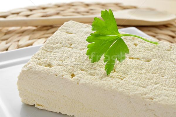 Тофу пластина продовольствие здоровья кухне Сток-фото © nito