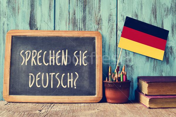 question sprechen sie deutsch? do you speak german? Stock photo © nito