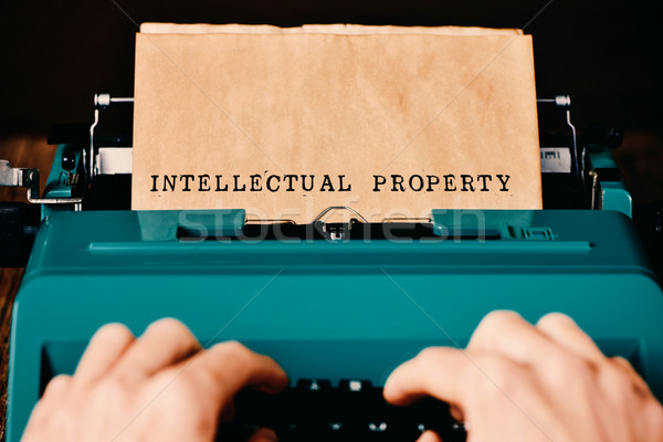 text intellectual property typewritten Stock photo © nito