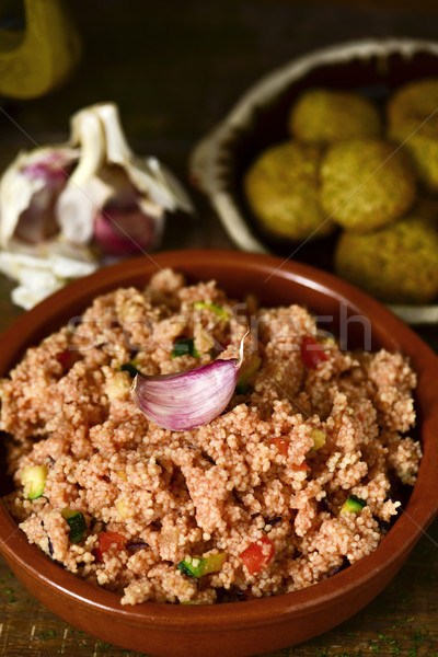 couscous with vegetables and falafel Stock photo © nito