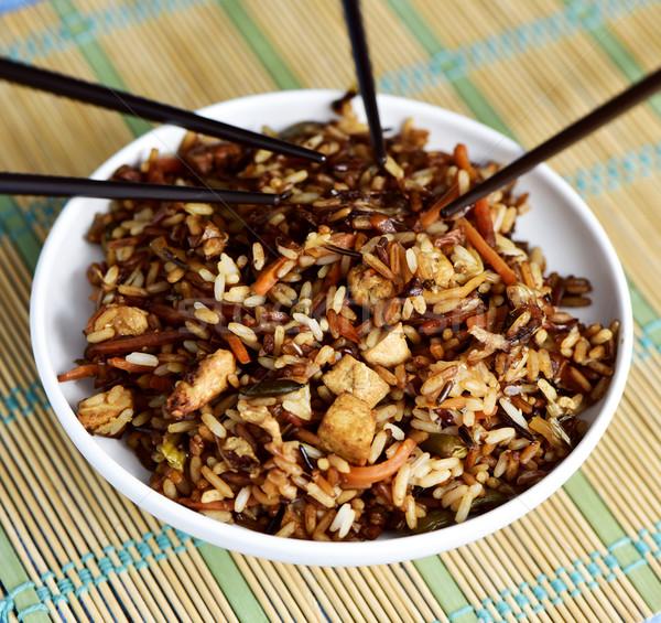 asian fried rice Stock photo © nito