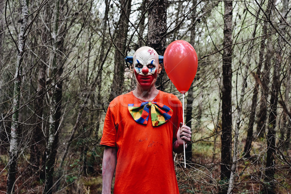 scary evil clown in the woods Stock photo © nito