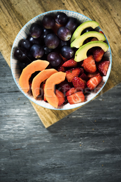 fruit salad in a ceramic bowl Stock photo © nito