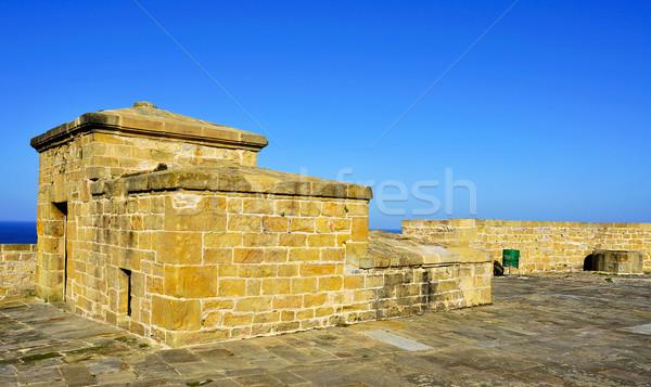 Spanyolország kilátás bástya város kastély kő Stock fotó © nito