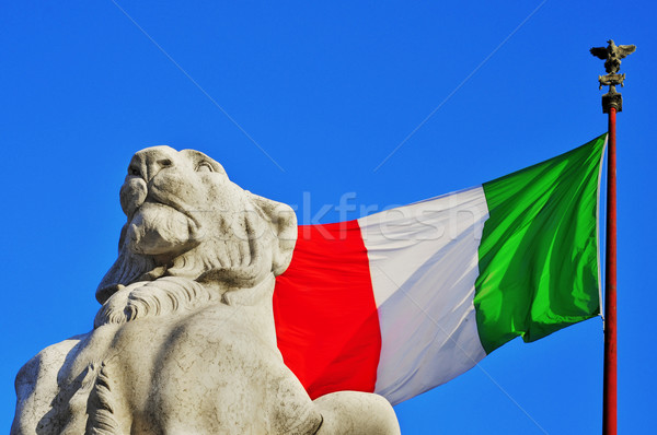 Roma Itália pormenor bandeira leão soldado Foto stock © nito