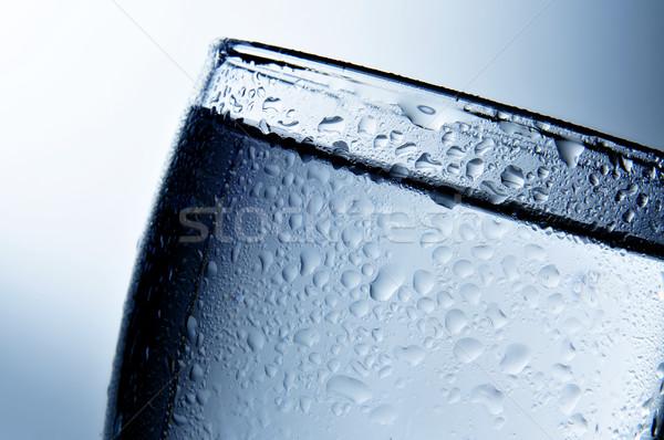 Alkoholos ital közelkép üveg jég éjszaka italok Stock fotó © nito