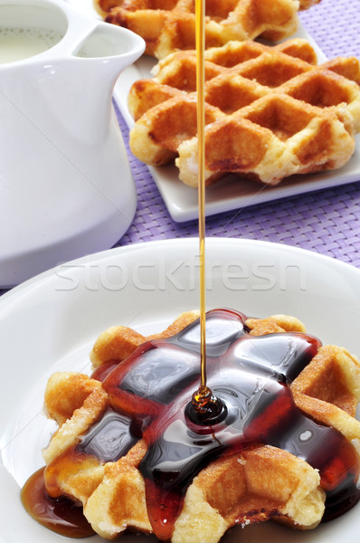 waffle with syrup Stock photo © nito