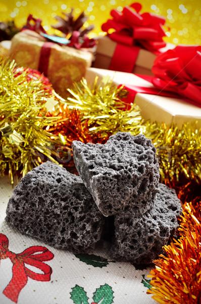 Candy carbone Natale regali primo piano alimentare Foto d'archivio © nito
