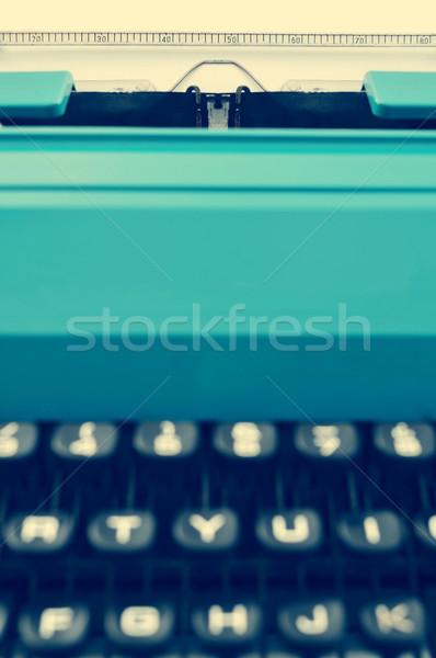 Retro Schreibmaschine filtern Wirkung blau Stock foto © nito