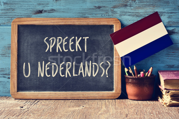 question do you speak Dutch written in Dutch Stock photo © nito