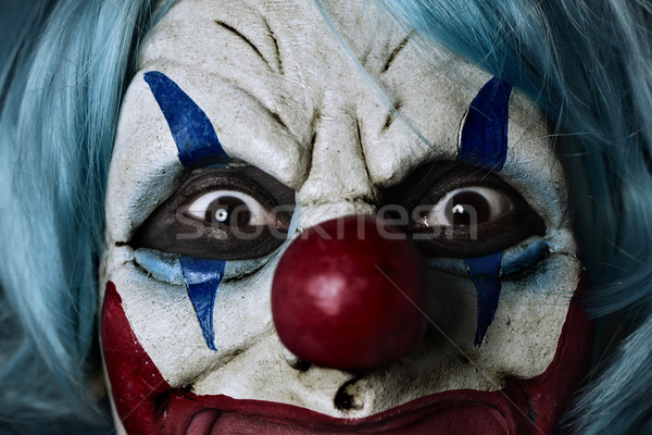 Effrayant mal clown bleu Photo stock © nito