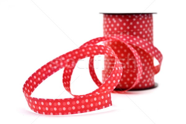 red ribbon patterned with white dots Stock photo © nito
