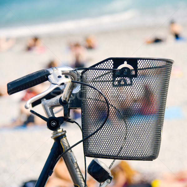 Stock photo: bicycle in the seafront of Nice, France