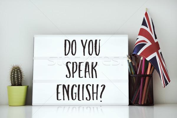 question do you speak English? Stock photo © nito
