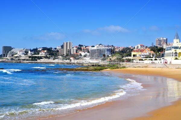 Strand Portugal water stad zee Stockfoto © nito