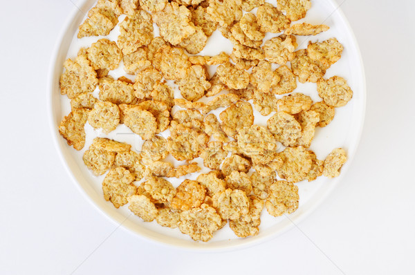 bowl with breakfast cereals soaked in milk Stock photo © nito