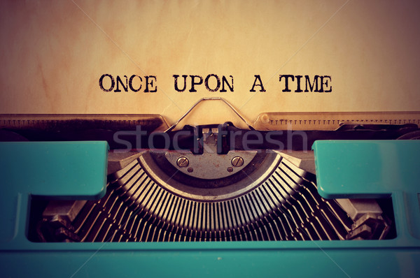 retro typewriter and text once upon a time Stock photo © nito
