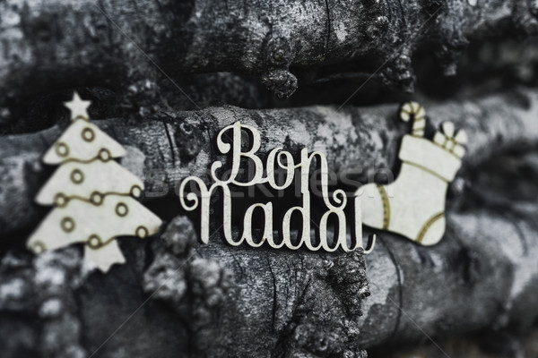 bon nadal, merry christmas in catalan language Stock photo © nito