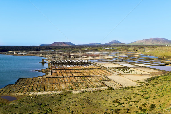 Laguna de Janubio in Lanzarote, Canary Islands, Spain Stock photo © nito