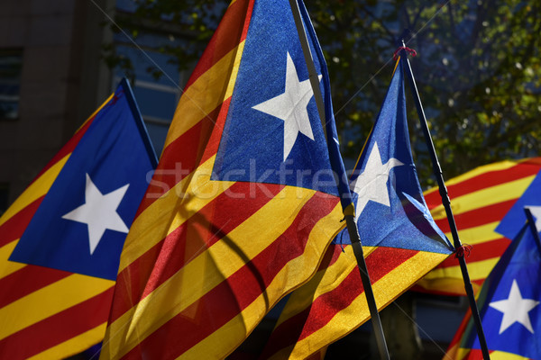 some estelada, the catalan pro-independence flag Stock photo © nito