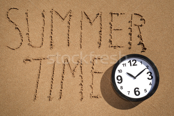 clock and text summer time on the beach Stock photo © nito