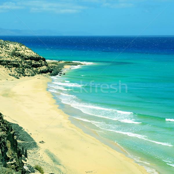 Praia canárias Espanha ver sol paisagem Foto stock © nito