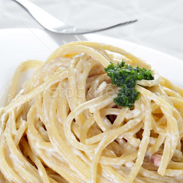 спагетти пластина кухне пасты еды Сток-фото © nito