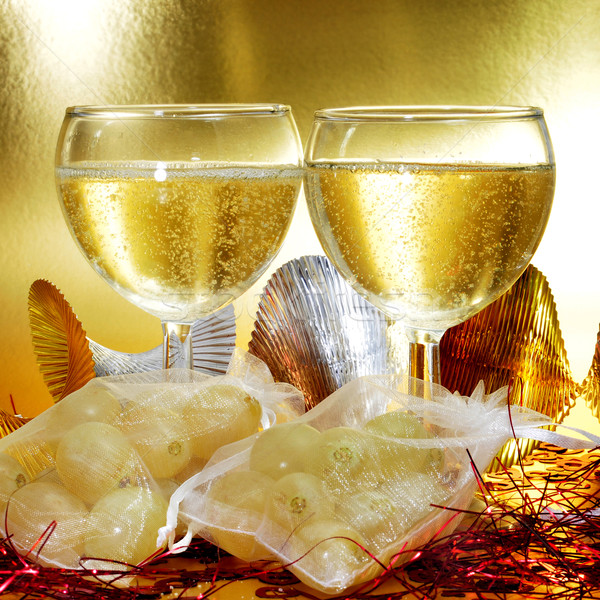 spanish champagne and the twelve grapes of luck Stock photo © nito