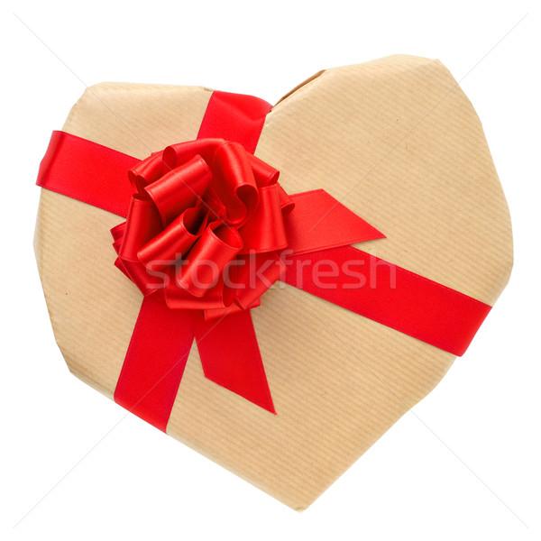 Geschenk witte papier partij gelukkig Stockfoto © nito