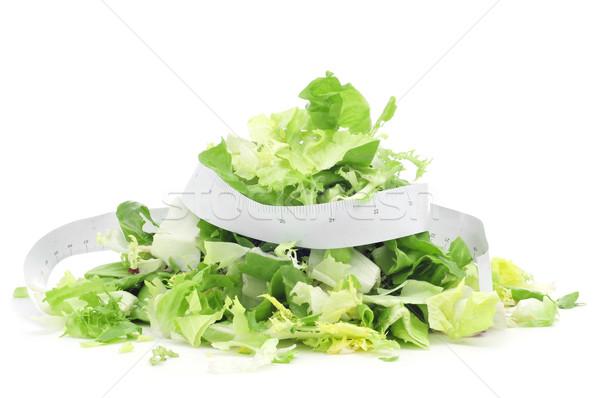 salad and measuring tape Stock photo © nito