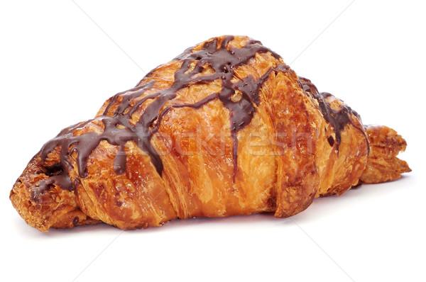 Chocolate croissant branco fundo doce refeição Foto stock © nito