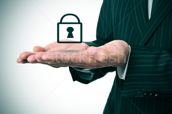 businessman and padlock icon Stock photo © nito