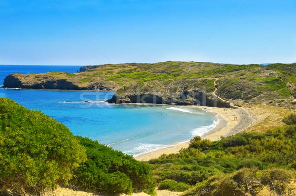 Cala de en Tortuga beach in Menorca, Balearic Islands, Spain Stock photo © nito