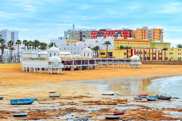 ストックフォト: ラ · ビーチ · スペイン · パノラマ · 表示 · 地中海