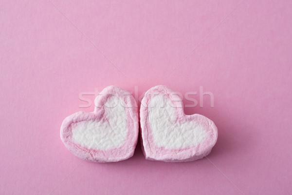 Dwa różowy biały kolory romans życia Zdjęcia stock © nito