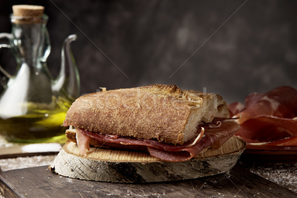 Spaans serrano ham sandwich typisch Stockfoto © nito