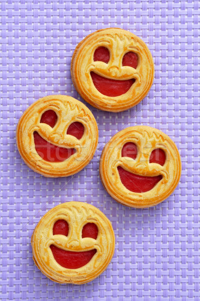 smiley biscuits Stock photo © nito