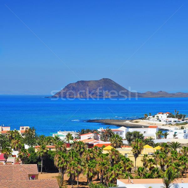 Ilha canárias ver Espanha mar montanha Foto stock © nito