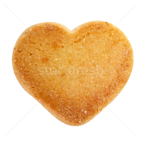 Stock photo: heart-shaped shortbread biscuit