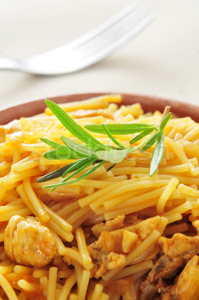 spanish noodles with chicken Stock photo © nito