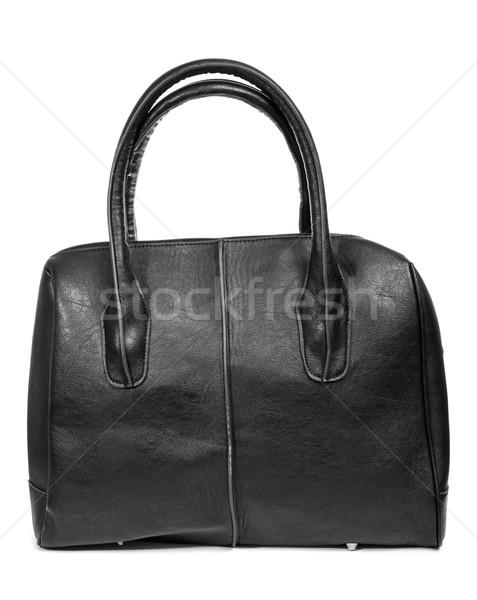 black leather purse Stock photo © nito