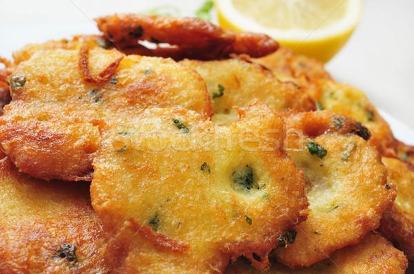 tortas de bacalao, spanish cod cakes Stock photo © nito