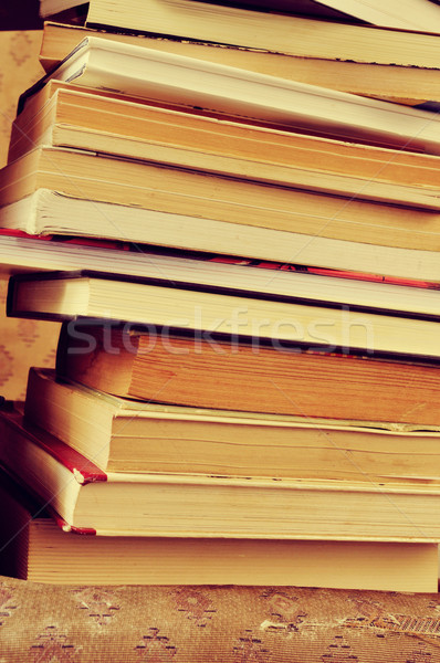 a pile of books, with a retro effect Stock photo © nito