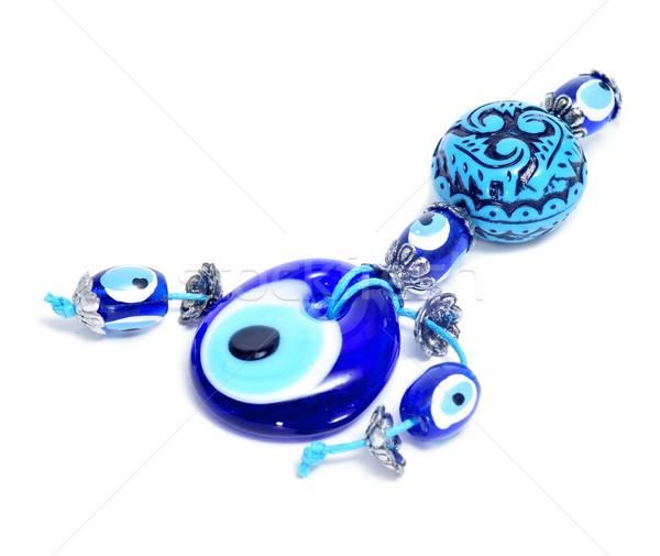 Bösen Auge Amulett home Tür Hintergrund Stock foto © nito