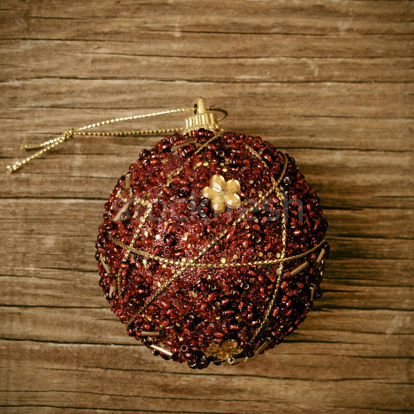 ornamented christmas ball with a retro effect Stock photo © nito